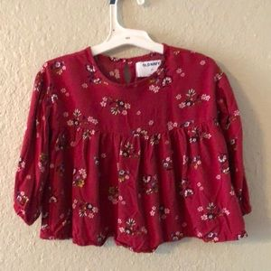 Red floral top for toddler size 3T